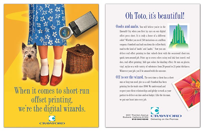 Trade Ad for Crawford Printing